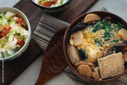 Frozen Tofu Soup & Tofu Mentaiko Donburi