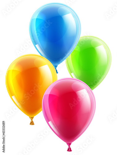Birthday or party balloons