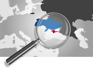 Landkarte *** Krim | Ukraine | Russland