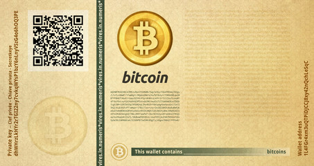 Bitcoin banknote seasoned