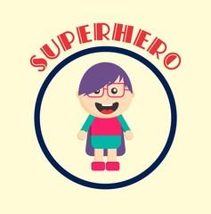 amazing superhero cartoon character