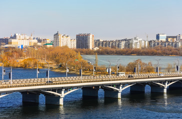 Voronezh in March, kind on Chernavsky bridge and Left coast