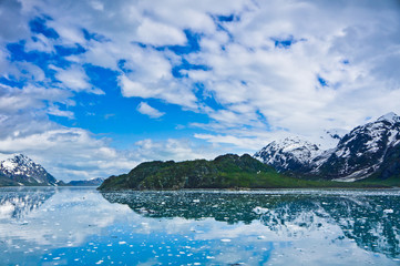 Glacier Bay in Mountains in Alaska, United States