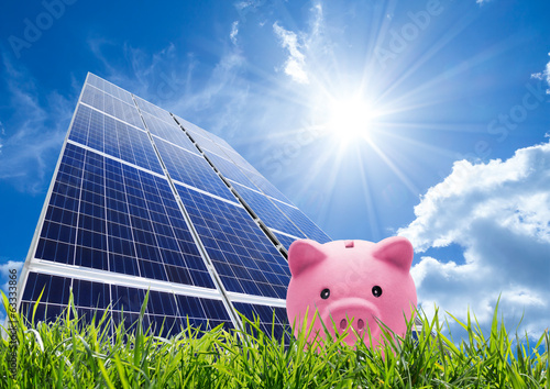 saving concept with photovoltaic - 63333866