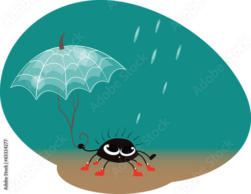 spider with umbrella