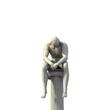Nachdenkliche Statue auf Pilaster