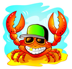 Illustration of the funny crab