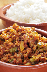 picadillo, traditional dish in many latin american countries, wi