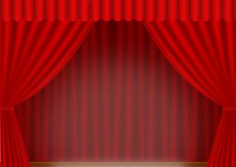 roter Vorhang Spot