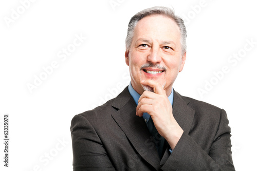 Senior businessman thinking about something