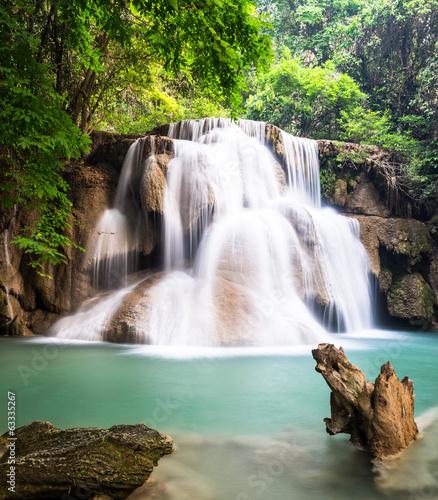 Plakat Waterfall at Kanchanaburi, Thailand