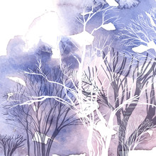 Silueta abstracta de árboles