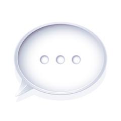 Isolated speech bubble