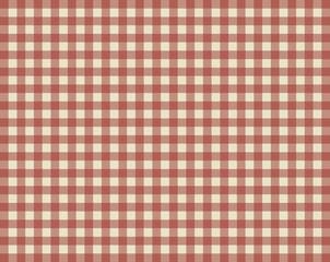 Tischdeckenmuster mit rot-braunen Karos