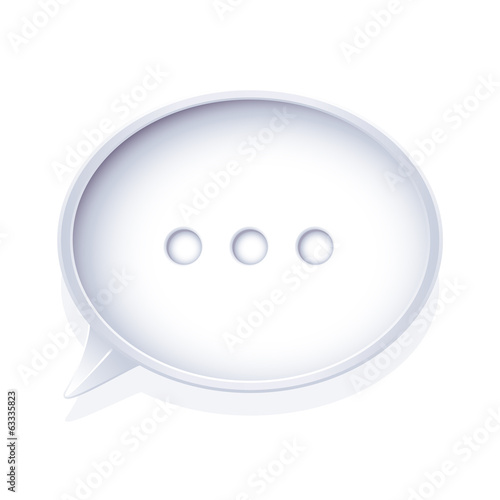 Isolated speech bubble
