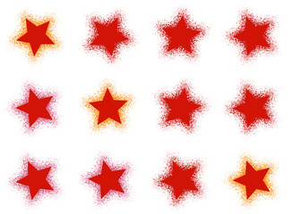 many red stars on white backgrounds