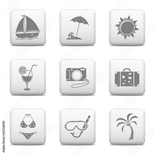 Web buttons - Vacation