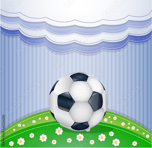 Football field with ball. Illustration 10 version.