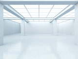Bright empty gallery interior