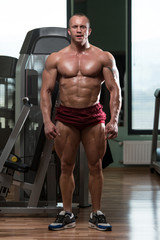 Bodybuilder Performing Front Relaxed Pose