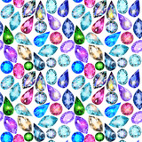 seamless background with glittering precious stones