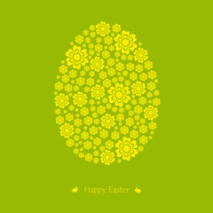 Floral easter egg. Vector. Illustration.