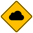 Cloud Road Sign