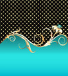 background with gold flower and precious stones