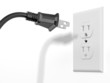 black plug and white socket
