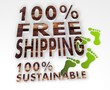 sustainable 100 percent freeshipping 3d sign