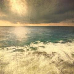 Grunge vintage seascape