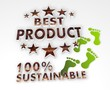 sustainable best product 3d sign