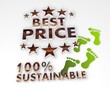 sustainable best price 3d symbol
