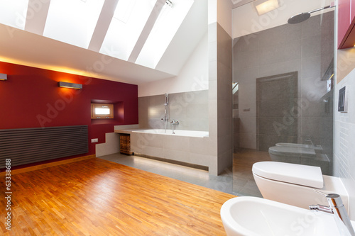 canvas print picture Interior of a modern bathroom