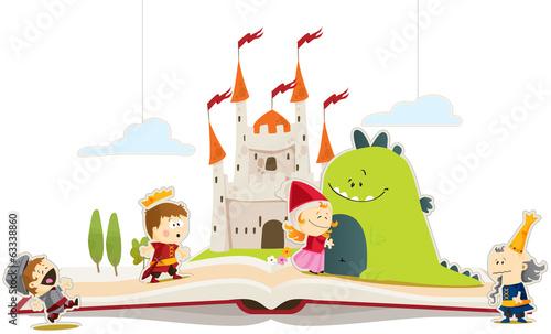 Livre de conte dragon & princesse