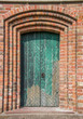 Green door of the church of Loppersum