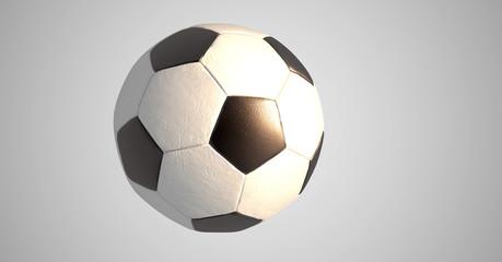 Retro Fußball- Render- Sonne