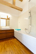 Vertical view of bathroom