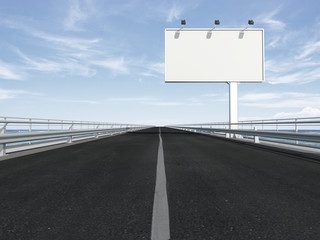 blank billboard  on the highway
