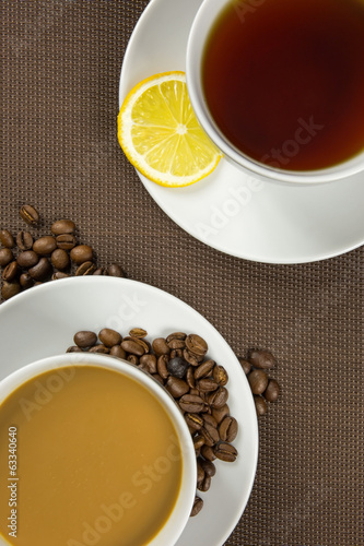 Cup of coffee and tea