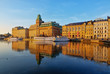 Scenic Stockholm waterfront, HDR image.