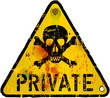 private sign, warning / prohibition sign, vector