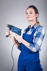 Handywoman with a drill