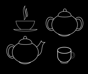 Tea Icons Vector Illustration