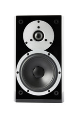 Black music loudspeaker