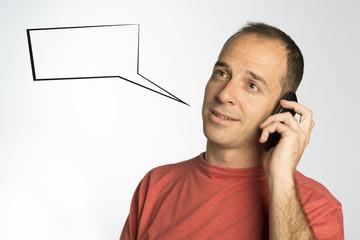 Conversación telefónica cómic