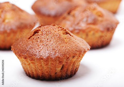 muffins isolated on white
