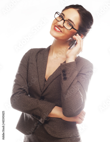 Eyeglasses Woman Using Phone