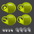 Set of vector business contact bubbles