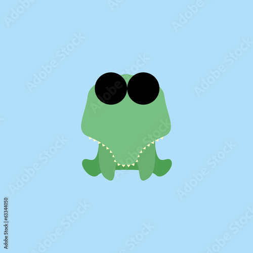 Adorable Cartoon Lizzard Isolated On Background